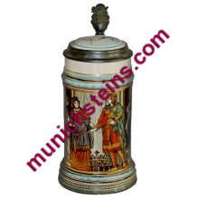 Mettlach #2402 Etched 1/2L. Siegfried wedding- German Beer Stein