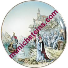 "Mettlach Plate #1044/263 PUG 17"" Plaque Lohengrin - V&B Plaque"