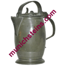 Pewter 1L Locking Stein Bolt action locking device on lid Circa 1800