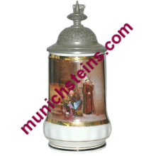 Porcelain Beer Stein POG 1/2L Detailed scene of monks in wine cellar