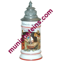 Occupational Stein 1/2L Porcelain : Locksmith- German Beer Stein