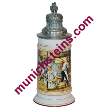 Occupational Stein 1/2L Porcelain: Baker Kneading dough loading oven