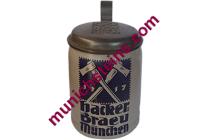 Hacker Bräu Munich Brewery Beer Stein 0.3L : ca. 1900 (item 51.244)