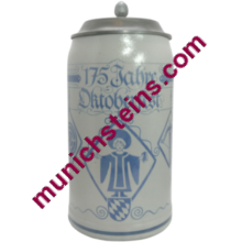 1985 Oktoberfest Stein Official With Lid 1L (Item 53.033)