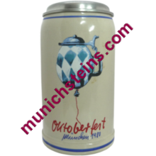 1980 Oktoberfest Official Stein with Lid 1L (item 53.035)