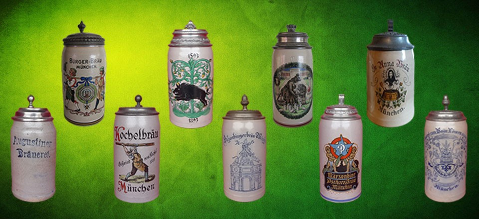 Munich Brewery Steins